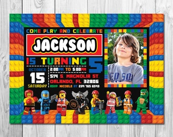 lego birthday invite etsy