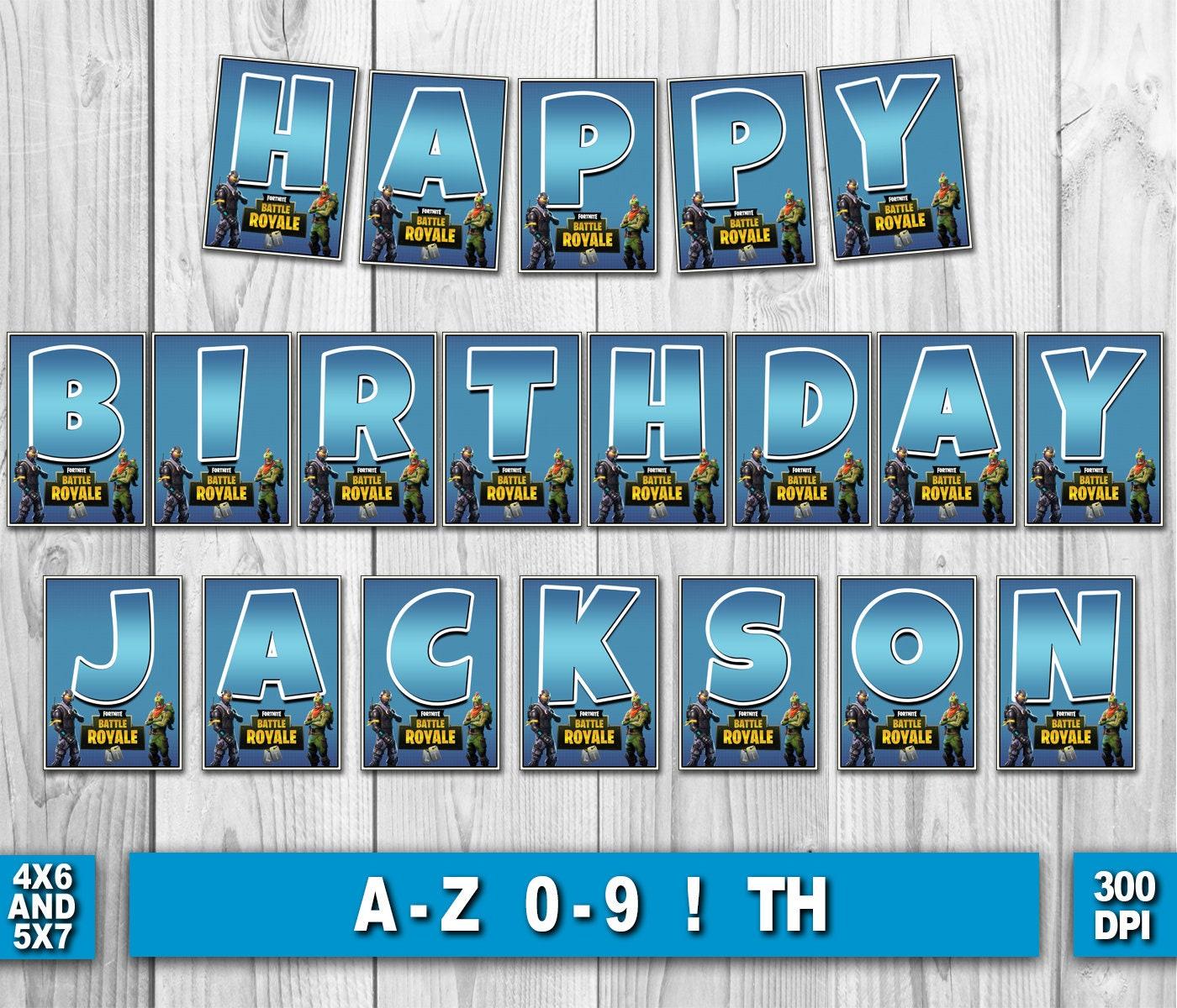Fortnite Birthday Banner Fortnite Digital Birthday Banner | Etsy