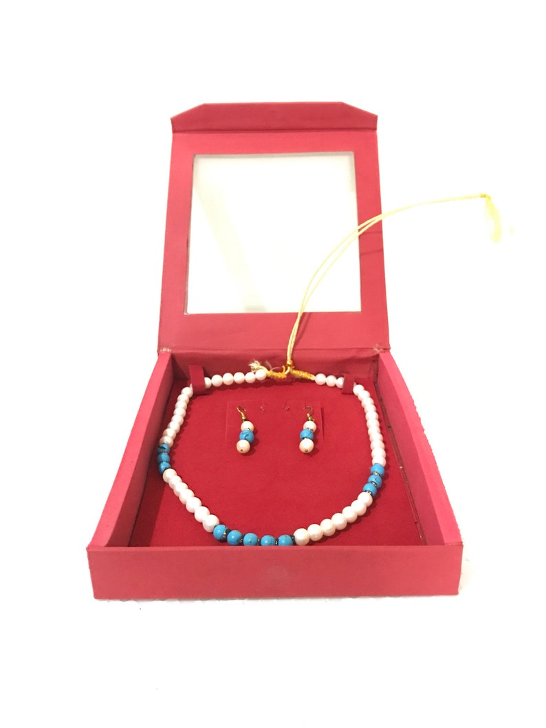 Natural fresh water pearls necklace with earings