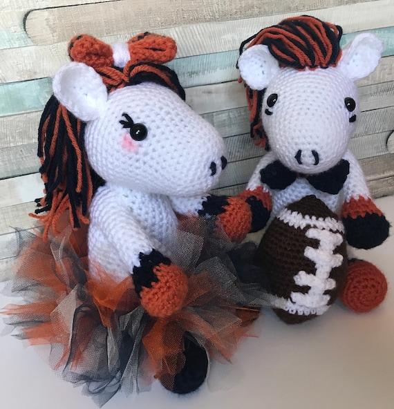 Handmade Broncos Fan Plush Stuffed Animal Mascots Girl With Etsy