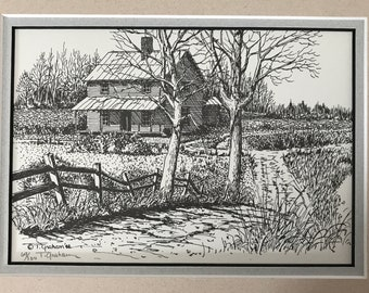 Limited Edition Black and White Matted Ted e. Graham Prints