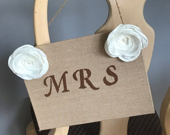 Mr & Mrs Burlap Signs