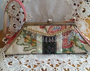 Spencer Rutherford Mademoiselle Vintage Handtasche, Vintage-Mode-Geschenk, hübschen Vintage Handtasche, Schmuck-Designer-Handtasche