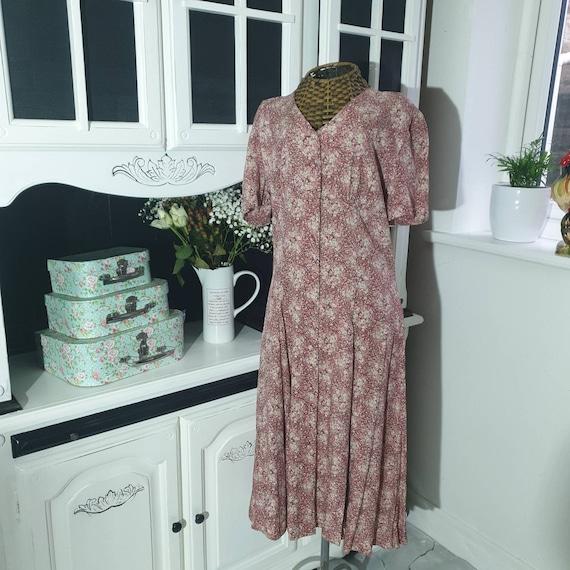 Vintage Laura Ashley Dress, Laura Ashley Floral Pi
