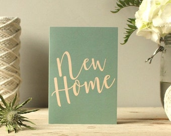 New Home card | Greetings card | Housewarming card | Moving Card | Recycled card