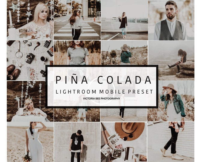 5 Mobile  Lightroom Preset PIÑA COLADA Bright Chocolate  Preset, Blogger Lightroom Mobile Preset