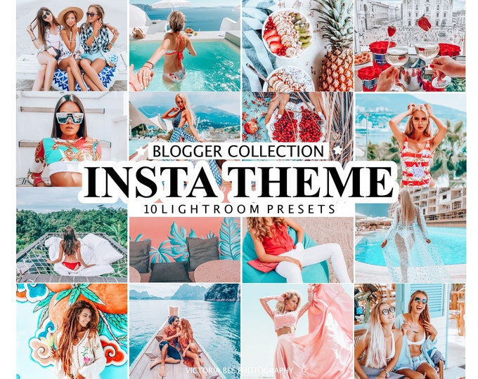 10 Mobile Lightroom Presets INSTA THEME / Lightroom Mobile Presets / Desktop Lightroom / Instagram Filter for Bloggers, Photo Editing
