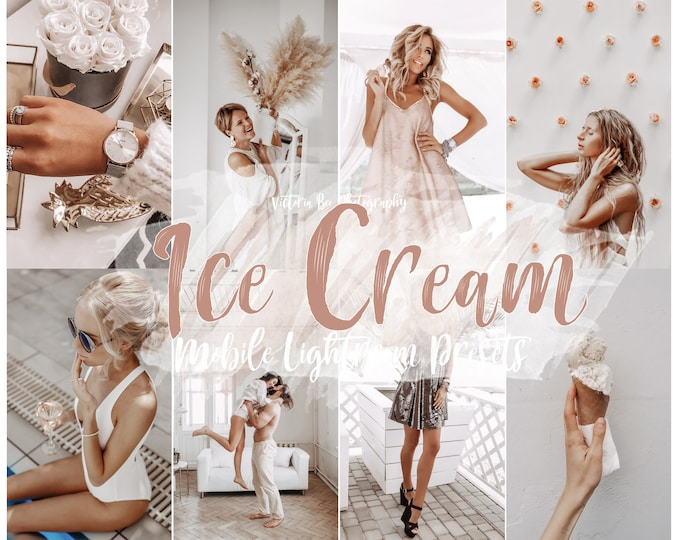 5 Mobile Lightroom Presets Ice Cream, Lightroom Mobile  Instagram Filter, Nude Presets, Warm Filter, Photo Editing for Instagram