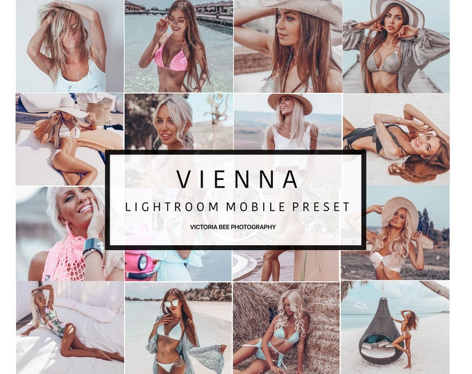 5 MOBILE Lightroom PresetsVIENNA/ Blogger Presets for Instagram / Travel Lifestyle / Fashion photography / Insta Girl presets /tan preset