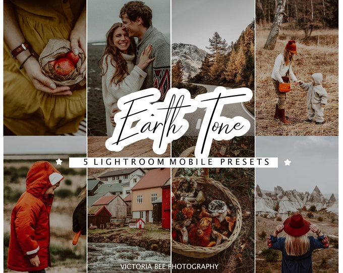 5 Mobile Lightroom Preset EARTH TONE, Moody Preset, Reach Tones Presets for Photo Editing, Blogger Fall Preset