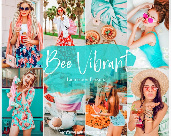 5 Mobile Lightroom Presets BEE VIBRANT Color Pop Lightroom Preset Bright Vibrant Preset for Photo Editing