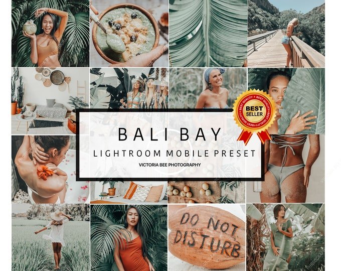 5 Lightroom Mobile Presets BALI BAY Travel Instagram Photo Editing Lightroom Influencer Preset For Bloggers  DNG file