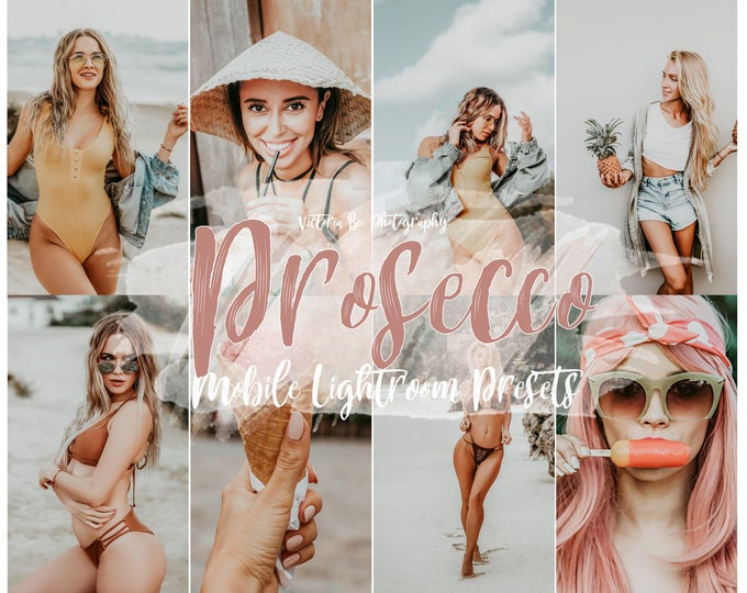 5  Lightroom Mobile Presets PROSECCO Instagram Preset,  Influencer preset, Lightroom Presets, Blogger preset