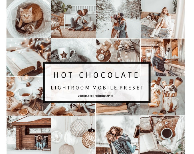 Mobile Lightroom Preset HOT CHOCOLATE Creamy Tones Lightroom Preset Vintage Winter Preset for Photos Editing