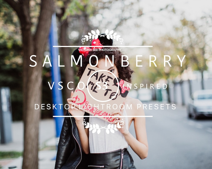 Desktop Lightroom Preset SALMONBERRY