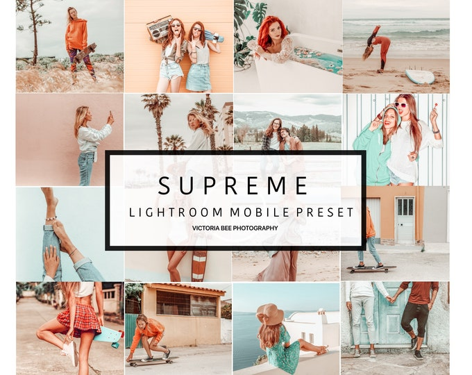 5 Mobile Lightroom presets SUPREME Influencer Lightroom Presets Cohesive Instagram Aesthetic Presets