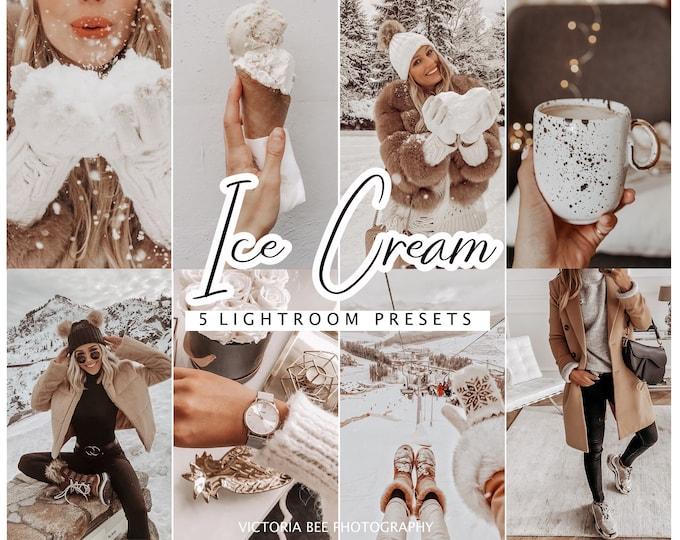Lightroom Presets Ice Cream for Mobile and Desktop Lightroom, Instagram Filter, Photo Editing