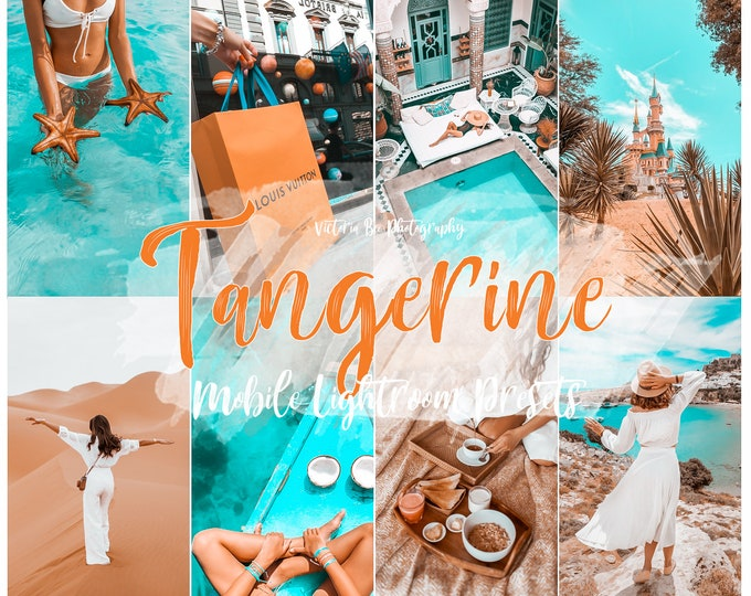 15 Lightroom Mobile Presets TANGERINE Teal and Orange Lightroom preset Summer Presets for Desktop and Mobile Lightroom Instagram Filter