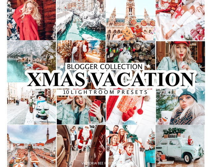 10 Mobile LIGHTROOM PRESETS Christmas Vacation, Lightroom Mobile CHRISTMAS Presets, Desktop Presets, Instagram Presets  for Bloggers