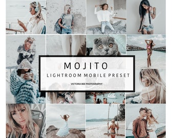 5  Lightroom Mobile Presets MOJITO Influencer Lifestyle Blogger Presets