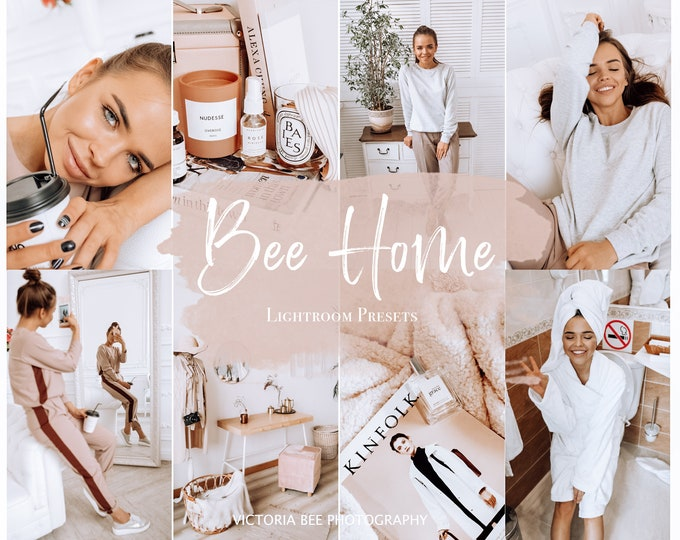 5 Mobile Lightroom Preset BEE HOME Influencer Lightroom Preset Home Blogger Instagram Lifestyle Indoor Photography Photo Filter