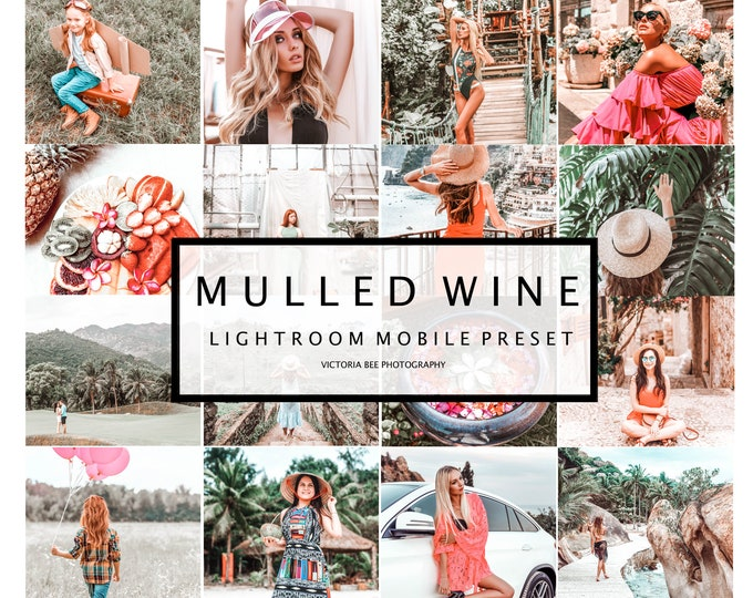 5 Lightroom Mobile Presets MULLED WINE Blogger Lightroom Preset Photo Editing