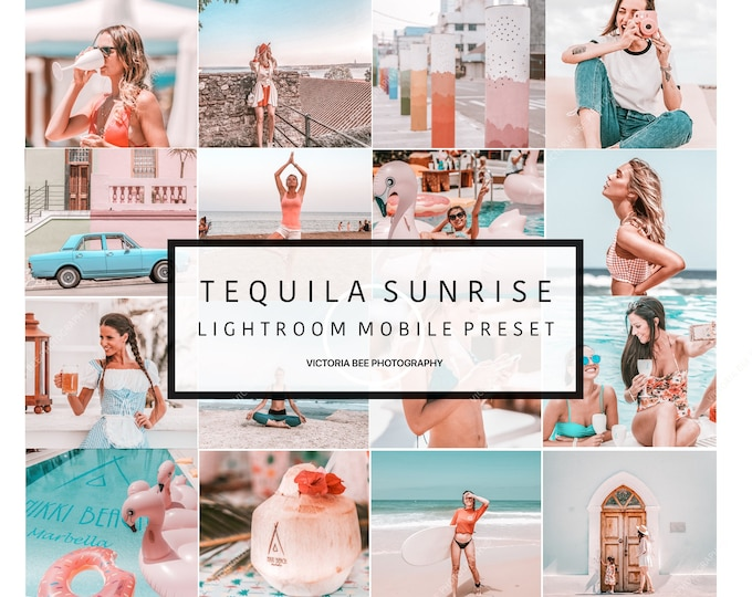 5 Lightroom Mobile Presets TEQUILA SUNRISE /  Influencers  Lightroom Preset / Summer Mobile Presets, Phone presets