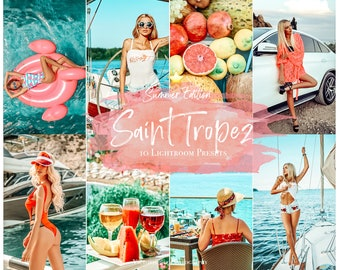 10 Mobile Lightroom Presets Saint Tropez, Summer Instagram presets for Bloggers, Vibrant Photo Filter for Instagram