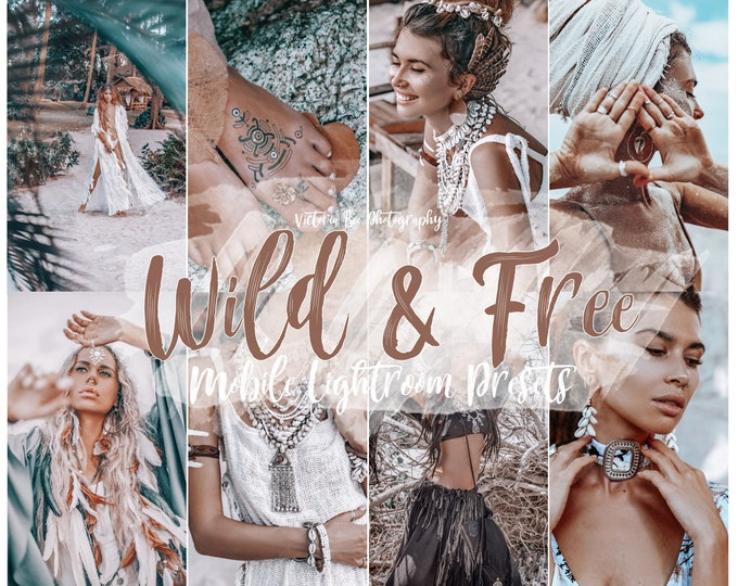5 Mobile Lightroom Presets WILD & FREE,  Lightroom Mobile  Instagram presets For Blogger, Photo filter For Instagram
