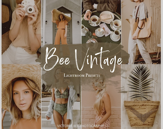 5 Mobile Lightroom presets BEE VINTAGE / Instagram preset /  Lightroom Mobile Influencer Presets For Bloggers, Photo Editing, warm filter