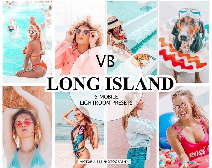 5 Mobile Lightroom Presets LONG ISLAND, Instagram Presets, Mobile Lightroom Presets, Blogger Presets, Photo Filter, Summer Presets