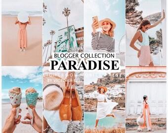 10 Lightroom Presets PARADISE for Mobile and Desktop Lightroom,  SUMMER Blogger Lifestyle Presets, Instagram Photo filter