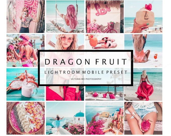 5 Lightroom Mobile Presets DRAGON FRUIT, Summer Preset, Influencer Presets, Bloggers presets, Instagram Presets, presets mobile