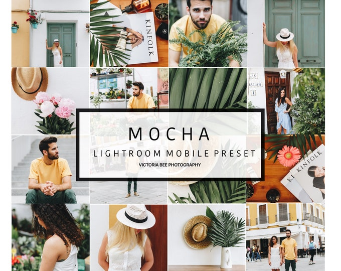 5 Lightroom Mobile Presets MOCHA clean preset , outdoor photo presets , natural color bright preset