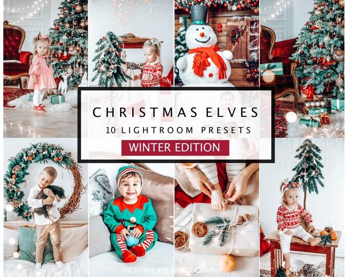10 Lightroom Presets CHRISTMAS ELVES, Mobile Instagram Lightroom Presets, Lightroom Desktop Holiday Photo Filter, Christmas  Presets