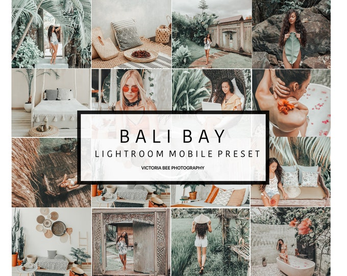 5 Mobile Lightroom presets BALI BAY Travel Instagram Lightroom Influencer Presets For Bloggers
