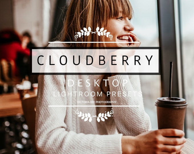 Desktop Lightroom Presets CLOUDBERRY Bright Tones Presets Lifestyle Winter Preset for Photos Editing