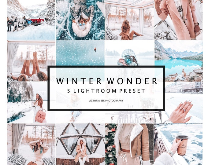 5 Mobile Lightroom Presets , Winter Photo filters,  Lightroom Mobile, Bloggers presets, Instagram Filter, Lifestyle Presets
