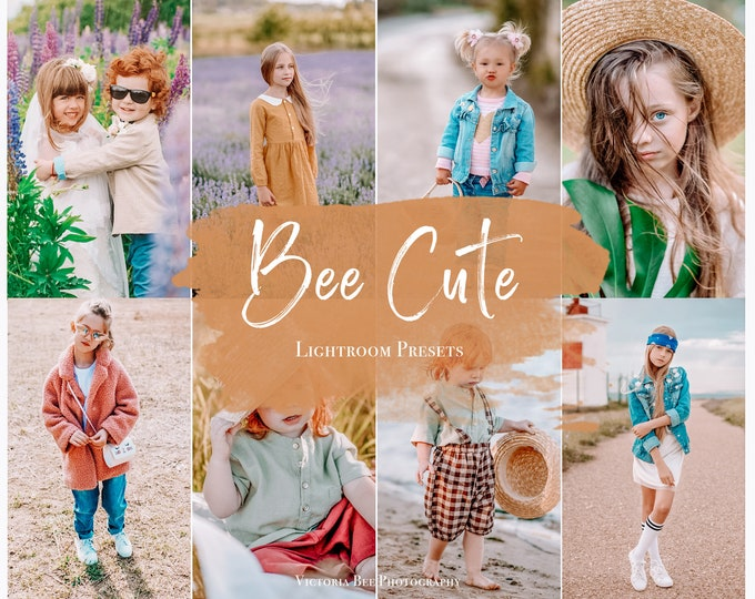 5 Mobile Lightroom Presets BEE CUTE / Bright preset for Kids / Lightroom Mobile  Preset For Bloggers, Photo Editing, Instagram Filter