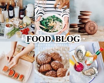 25 Lightroom Presets FOOD BLOG for Mobile and Desktop Lightroom, Bright Food Blogger Presets, Dark and Moody, Vibrant Instagram Filter