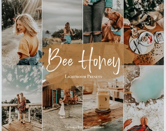 5 Mobile Lightroom Preset BEE HONEY Warm Instagram Filter, Influencer Lightroom Preset Travel Blogger