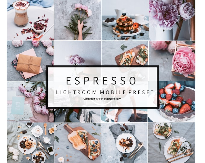 5  Lightroom Mobile Presets ESPRESSO Blogger Modern Preset Moody Lightroom Mobile Lifestyle Preset