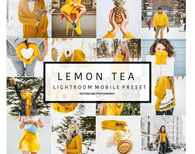 Mobile Lightroom Preset LEMON TEA Winter Holiday Bright Lightroom Preset Clean Quality Mobile Preset