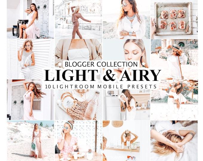 10 Lightroom Presets LIGHT & AIRY, Mobile Lightroom Presets,  Lightroom Desktop Presets, Bright  Photo Filter