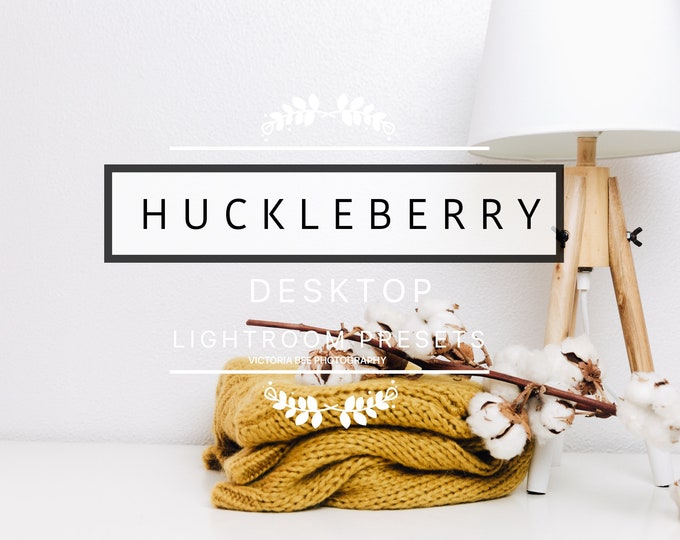 Desktop Lightroom Preset HUCKLEBERRY Minimal Professional Clean Product Lightroom Presets