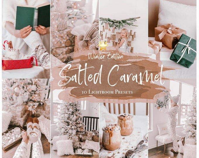 10 Mobile Lightroom Presets Salted Caramel, Christmas Presets, Holiday Instagram Presets, Winter presets, Photo Filter