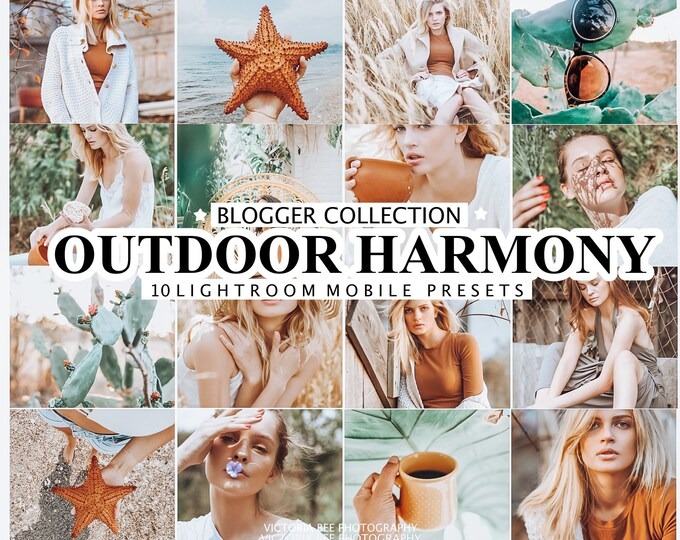 10 Outdoor Lightroom Presets OUTDOOR HARMONY for Desktop and Mobile Lightroom, Instagram Photo Filter, Nature Photo Presets