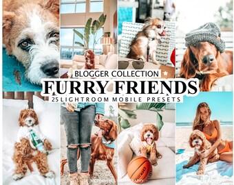 25 Lightroom Presets FURRY FRIENDS for Mobile and Desktop Lightroom, Pet Preset, Dog Instagram Filter, Bright Light Preset