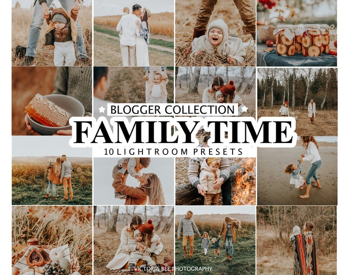 10 Mobile Lightroom Presets FAMILY TIME / Lightroom Mobile Presets / Desktop Preset / Warm Photo Filter for Instagram