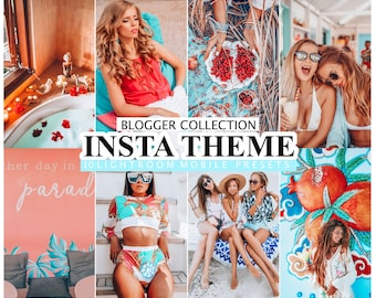 10 Lightroom Presets For Desktop and Mobile Lightroom  INSTA THEME / Lightroom Mobile Presets / Instagram Filter for Bloggers, Photo Editing